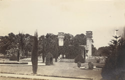 [View in the Lal Bagh Gardens, Bangalore.]